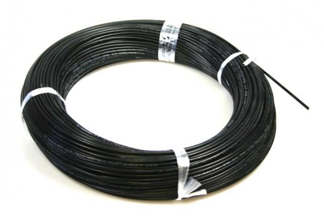 Polyamidschlauch 1x3mm, schwarz (Meterware)