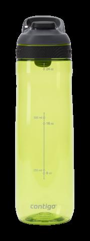 Contigo Autoseal Cortland botella de agua, botella de hidratación 720ml (Citron Grey)