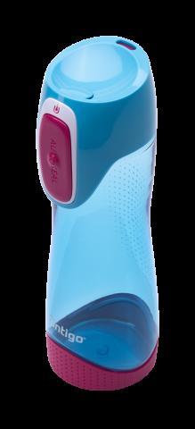 Contigo Autoseal Swish Trinkflasche Kinder, Wasserflasche 500ml (Sky Blue)