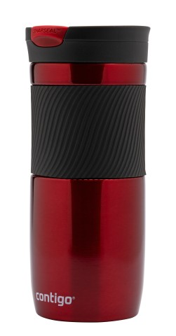 Contigo Snapseal Byron Thermobecher, Kaffeebecher to go 470ml (Red)