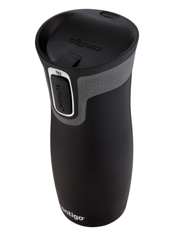 Contigo Autoseal West Loop Thermobecher, Kaffeebecher to go 470ml (Matt Black)