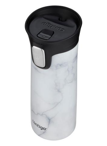 Contigo Autoseal Pinnacle Couture Thermobecher, Kaffeebecher to go 420ml (White Marble)