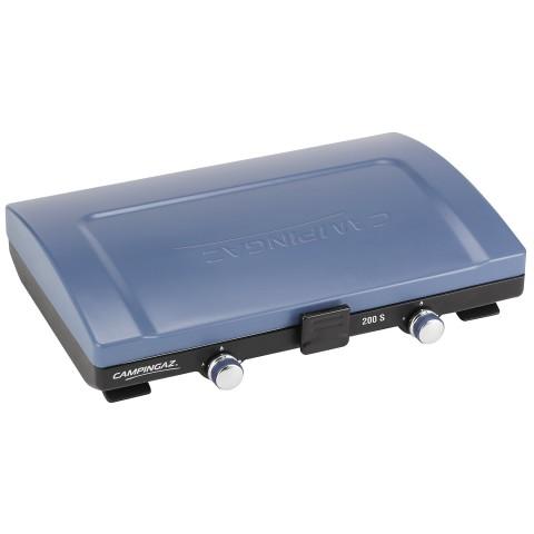 CAMPINGAZ stufa a 2 fuochi con protezione antivento pieghevole, 2x2100 W, tubo flessibile incluso