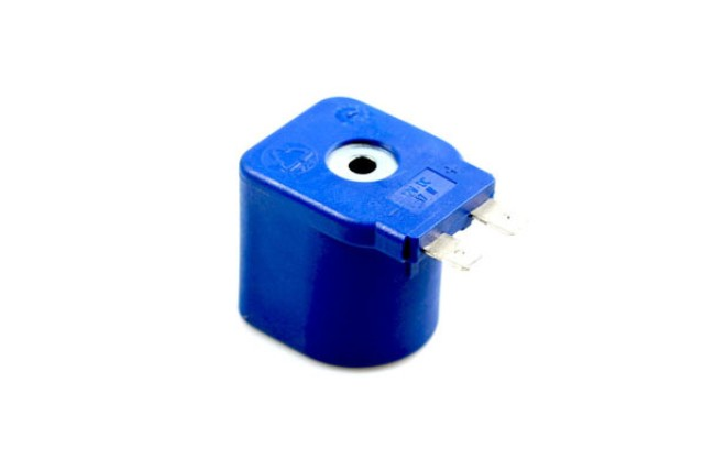 Tomasetto Magnetspule 12V DV 17W mit Flachstecker für 30° EXTRA Multiventil (8mm) + AT09 Verdampfer