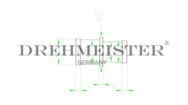 DREHMEISTER Schlauchkupplung D19mm D16mm (Aluminium)