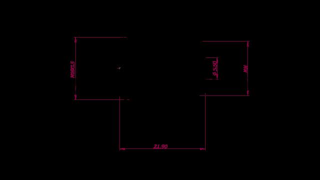 DREHMEISTER ACME adaptateur M14 avec connecteur en acier, long