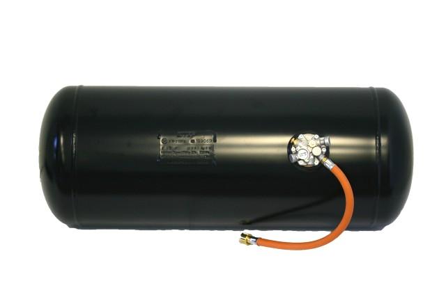 Brenngastank 270x886 47L mit Multiventil und Hochdruckschlauch