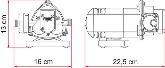 Fiamma Aqua 8 Wasserpumpe 12V - 7L - 1,5 bar