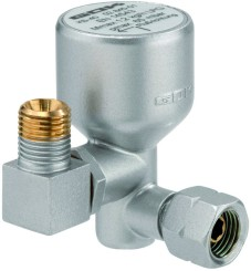 GOK anti-tamper valve, vertical outlet upwards