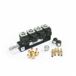 RAIL Injektor LPG CNG IG1 4 Zylinder BLACK BODY 3 Ohm (alte Version)