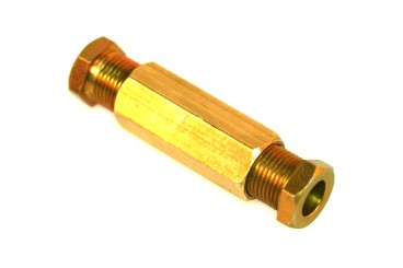 DREHMEISTER screw-in connection M12x1/M12x1 D8 mm (brass)