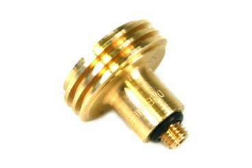 DREHMEISTER ACME filling point adapter 10 mm short version, brass