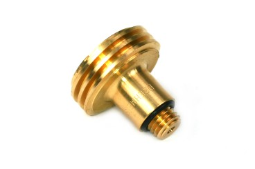 DREHMEISTER ACME filling point adapter 12 mm short version, brass