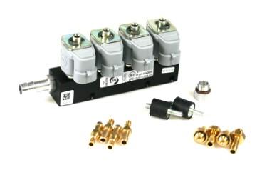 RAIL Injektor LPG CNG IG1 4 Zylinder BLACK BODY 2 Ohm (alte Version)