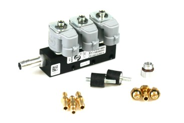 RAIL Injektor LPG CNG IG1 3 Zylinder BLACK BODY 2 Ohm (alte Version)