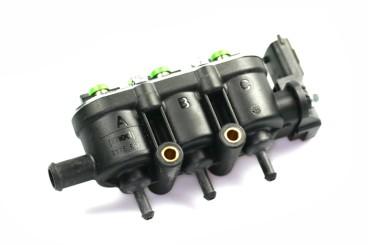 Landi Renzo Injektor MED LPG CNG 3 Zylinder GI25-22 GRÜN mit Drucksensor (alte 4-Loch Ausführung)