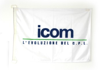 ICOM Fahne 50x75
