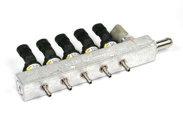 BRC Injektor LPG CNG 5 Zylinder IN03 MY09 inkl. Drucksensor (gelb)