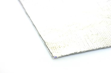 Isolation/Heat protection foil up to 550°C, self-adhesive 33x33cm (0,65mm thick)