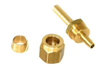 FARO Fitting Set 6mm (Rohrstutzen, Überwurfmutter, Schneidring)