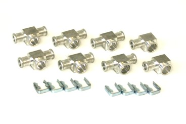 DREHMEISTER Injector connector set for Keihin single injectors (8 cylinders)