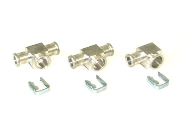DREHMEISTER injector connector set for Keihin single injectors (3 cylinders)