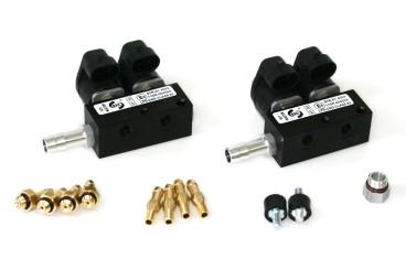RAIL Injektor LPG CNG IG1 2x2 Zylinder (BOXER) BLACK BODY 3 Ohm (alte Version)
