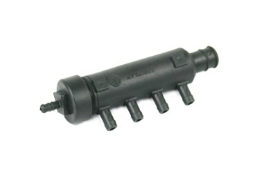 Voltran carcasa de filtro y colector de 4 cilindros con conexión de sensor de presión