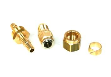 FARO FASTYFIT Fitting Set 6mm (Rohrstutzen, Überwurfmutter, Schneidring, Schnellverbinder)