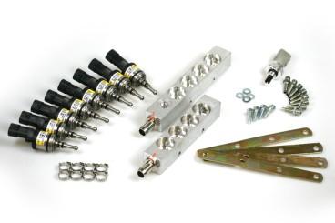 BRC Injektor LPG CNG 8 (4+4) Zylinder IN03 inkl. Drucksensor, gelb