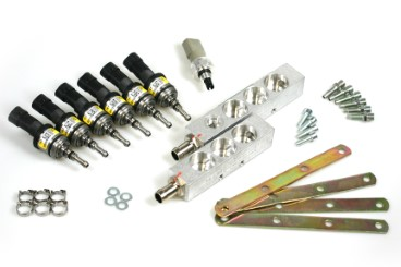 BRC Injektor LPG CNG V6 (3+3) Zylinder IN03 MY09 inkl. Drucksensor (gelb)