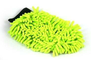 Gant chenille microfibre auto avec filet à insectes, petit - vert