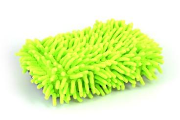 Éponge de lavage microfibre avec filet à insectes, vert, 220x120mm