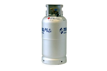 Alugas Travel Mate refillable gas cylinder 33 litres with 80% multivalve