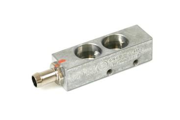 BRC Injektorleiste 2 Zylinder ohne Drucksensoranschluss für neue MY09 Injektoren
