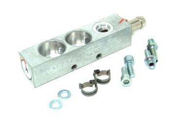 BRC Injektorleiste 2 Zylinder mit Drucksensoranschluss für neue MY09 Injektoren