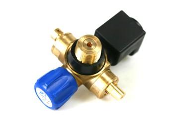 Tomasetto CNG Absperrventil VM05 2D mit separatem Sicherheitsventil - M12x1 DIN + Montagesatz VM1025