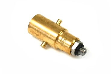 Bayonet filling point adapter 10 mm incl. sintered filter, 80 mm - brass, steel connection