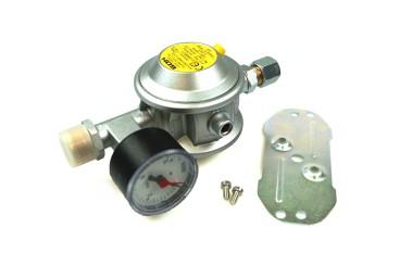 GOK Niederdruckregler 30mbar 1,5kg/h gerade RVS 10mm inkl. Manometer