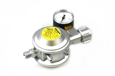 GOK Niederdruckregler 30mbar 1,5kg/h - KLF inkl. Manometer