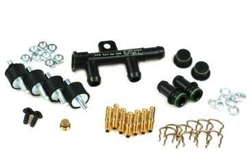 Landi Renzo Montagesatz für 6 Zylinder EVO Injektoren (12mm)