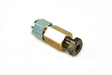Connector 6 mm copper to 6 mm thermoplastic hose
