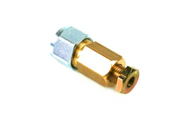 Connector 6 mm copper to 8 mm thermoplastic hose