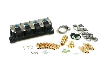 AC rampa de inyección W02-4 de 4 cilindros incl. material de montaje