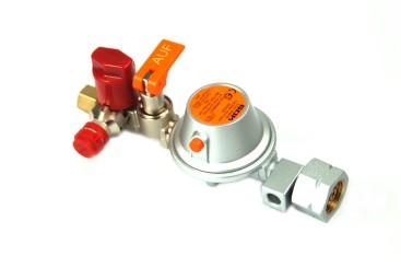 GOK Regleranlage 50 mbar EN61- 1kg/h  Komb.Ax UV/SKU X RVS 8 mm
