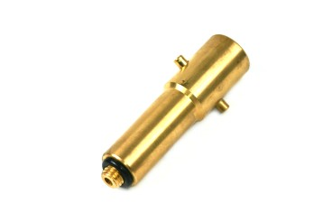 Bayonet filling point adapter 12 mm extra long version (103 mm), brass