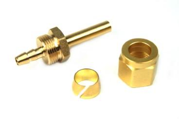 DREHMEISTER Fitting Set 6mm (Rohrstutzen, Überwurfmutter, Schneidring)