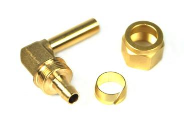 DREHMEISTER Fitting Set 8mm (Winkelstück 90°, Überwurfmutter, Schneidring)