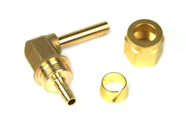 DREHMEISTER Fitting Set 6mm (Winkelstück 90°, Überwurfmutter, Schneidring)