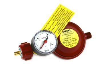 GOK Niederdruckregler 1,5kg/h 29 / 30 mbar inkl. Manometer